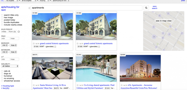List Apartments For Free; Beyond Craigslist